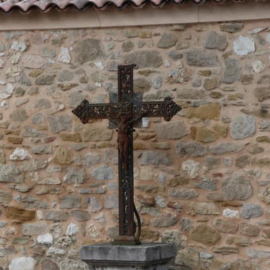 Iron cross in Puyloubier, France
